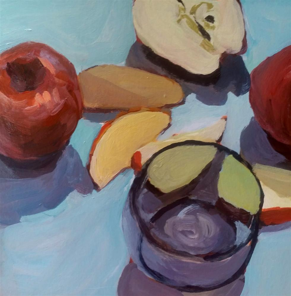 """Apple Slices"" original fine art by Liz Maynes"