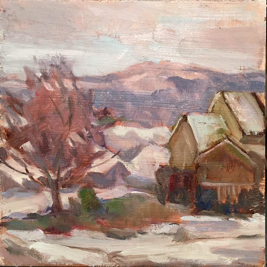 """Snow Day"" original fine art by Laura Gable"