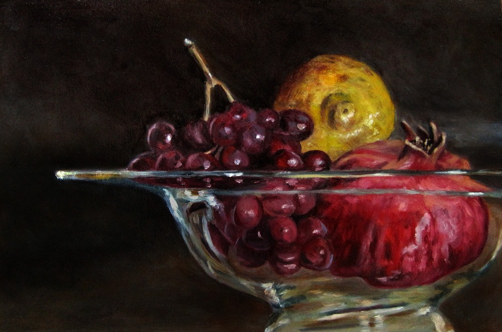 """Bowl of Fruit"" original fine art by Ulrike Miesen-Schuermann"
