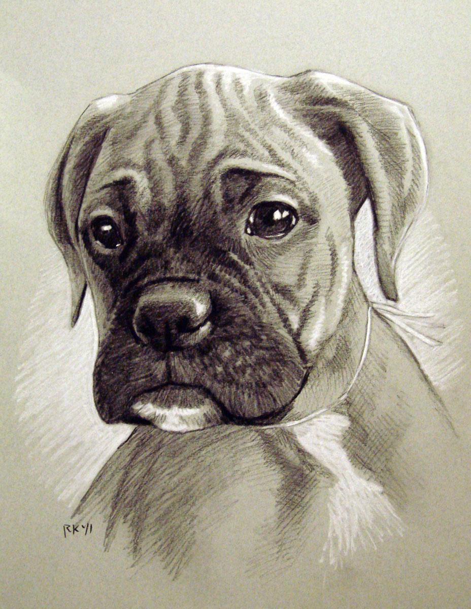 A Pet Portrait Commission original fine art by Rita Kirkman