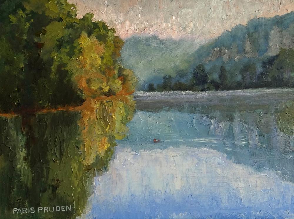 """The Seine; Early Morning"" original fine art by Nancy Paris Pruden"