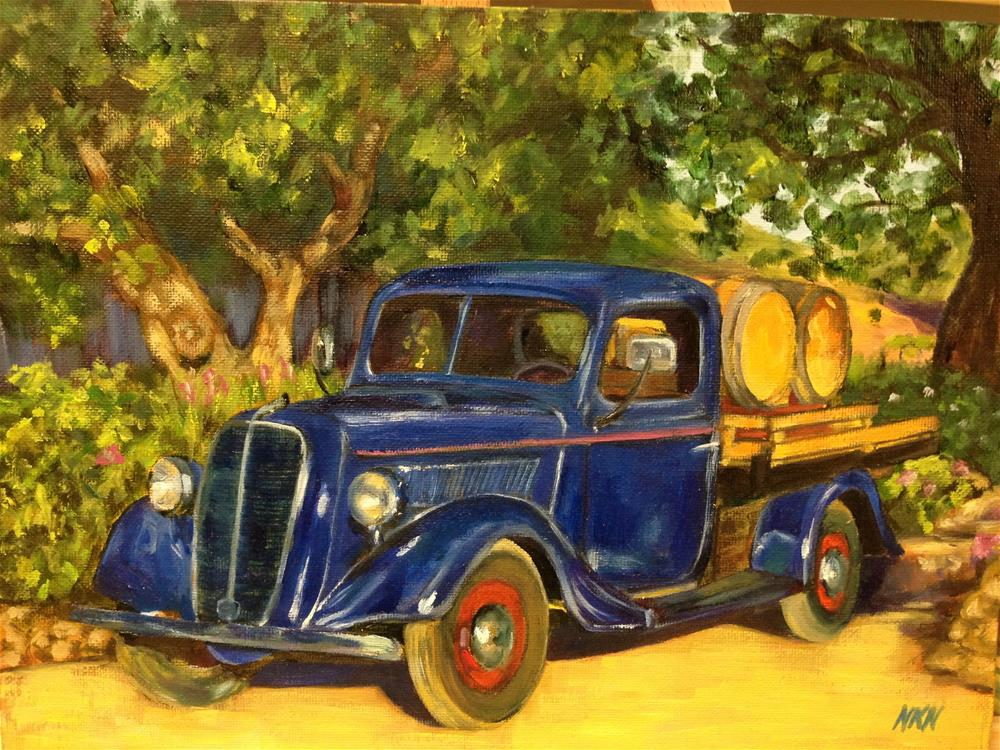 """1937 FORD"" original fine art by Nina K. Nuanes"