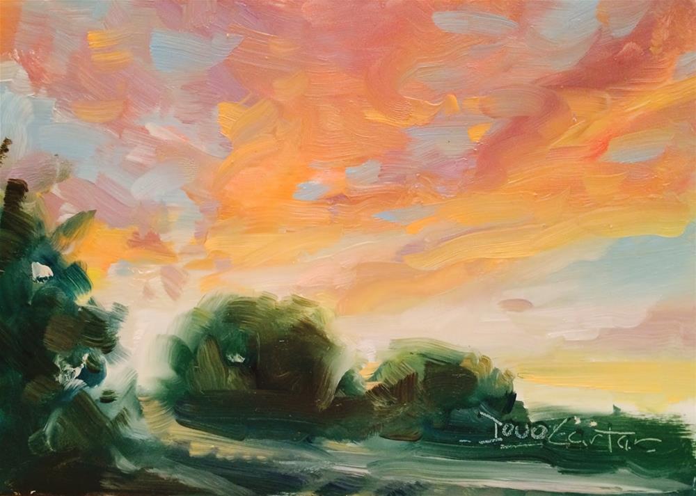 """CROWING"" original fine art by Doug Carter"
