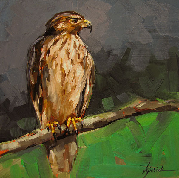 """Hawkeye"" original fine art by Karin Jurick"