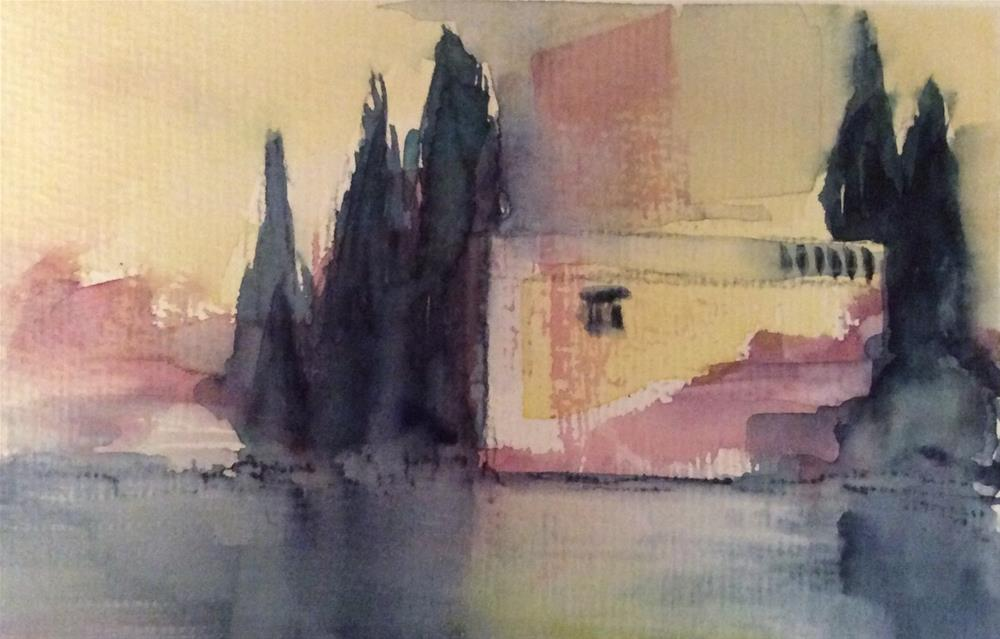 """On the way to Venice 2"" original fine art by Klaudia Frieda"