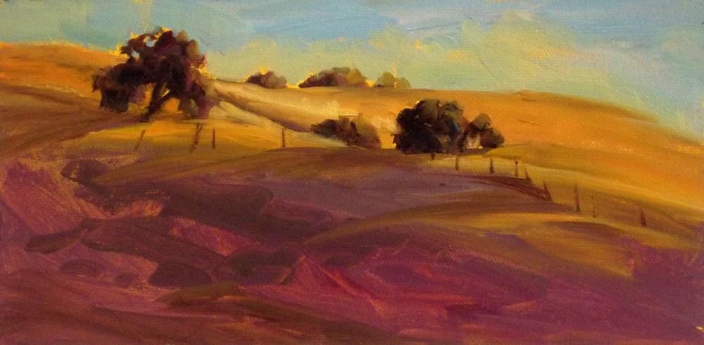 """""""Hills at Daybreak"""" original fine art by Erin Dertner"""