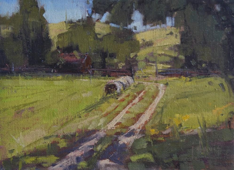 """Shaded Farm Road"" original fine art by Julie Davis"