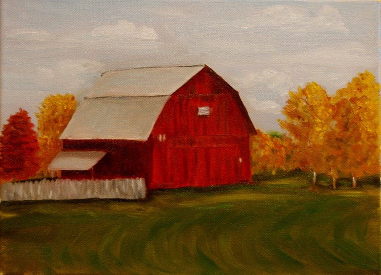 """Autumn at Jolly Mill Park"" original fine art by Mary Datum"