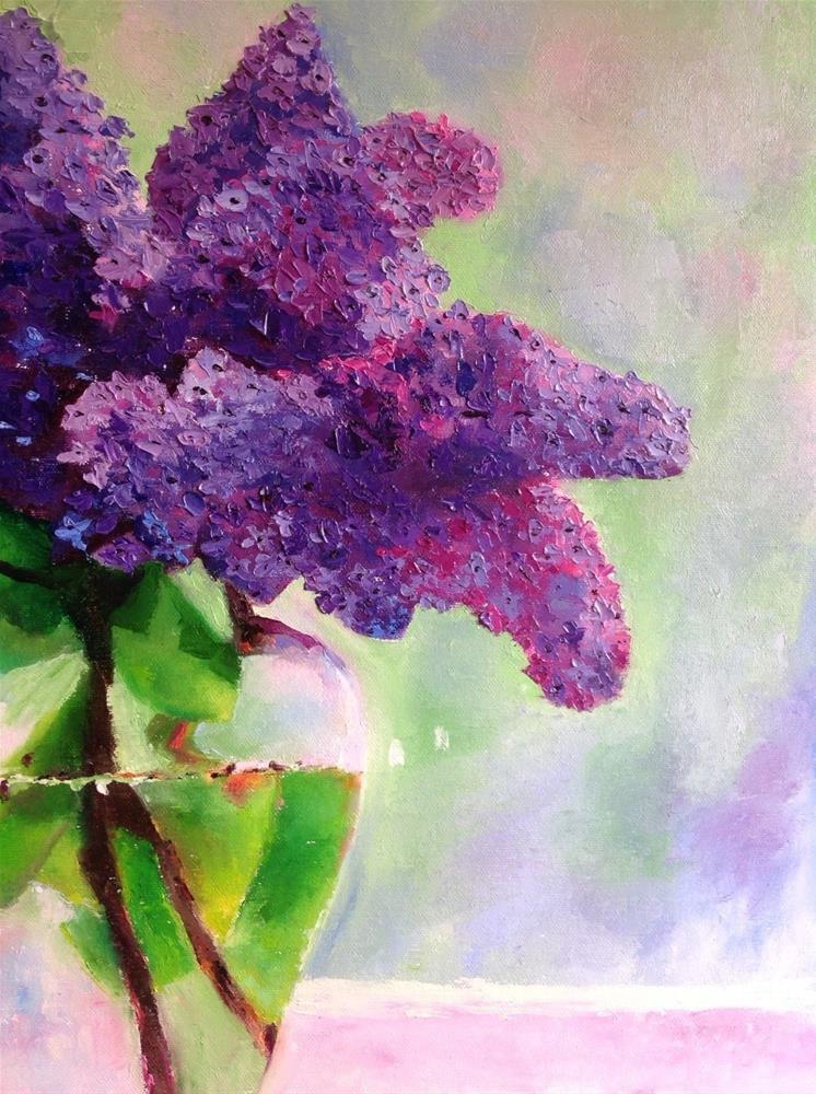 """Lilacs in Bloom"" original fine art by Rose Brenner"