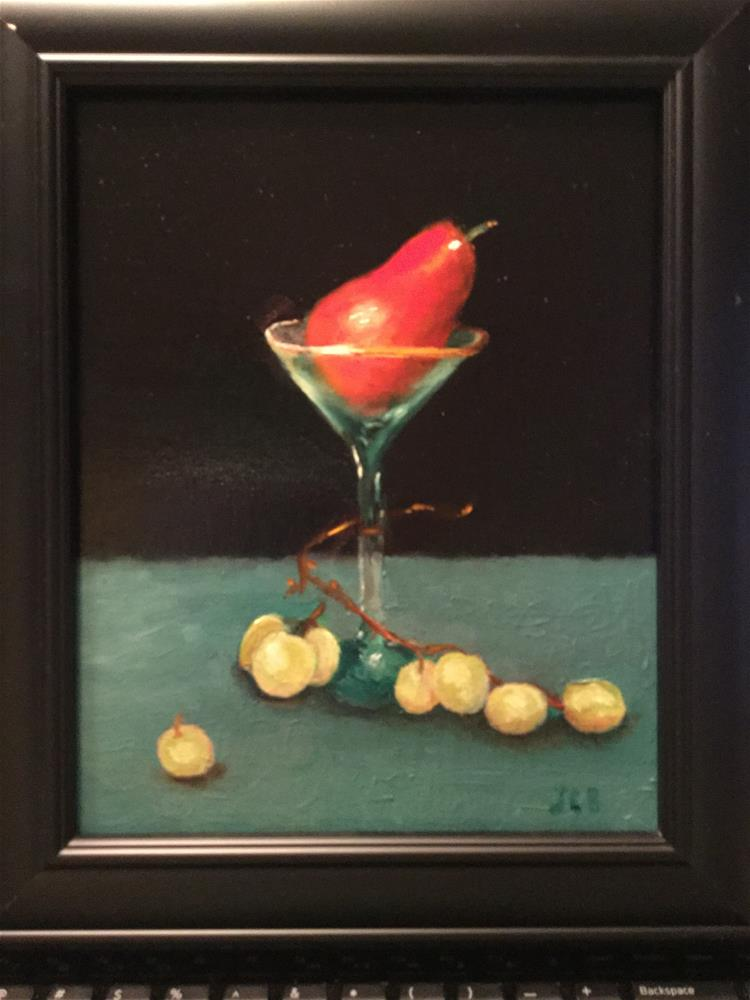 """Pear-tini"" original fine art by Jeanne Bossart"