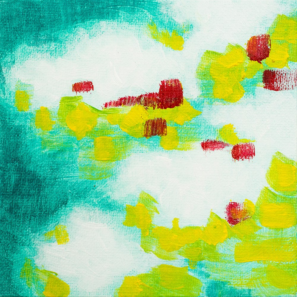"""Turquoise Clouds"" original fine art by Franziska Schwade"
