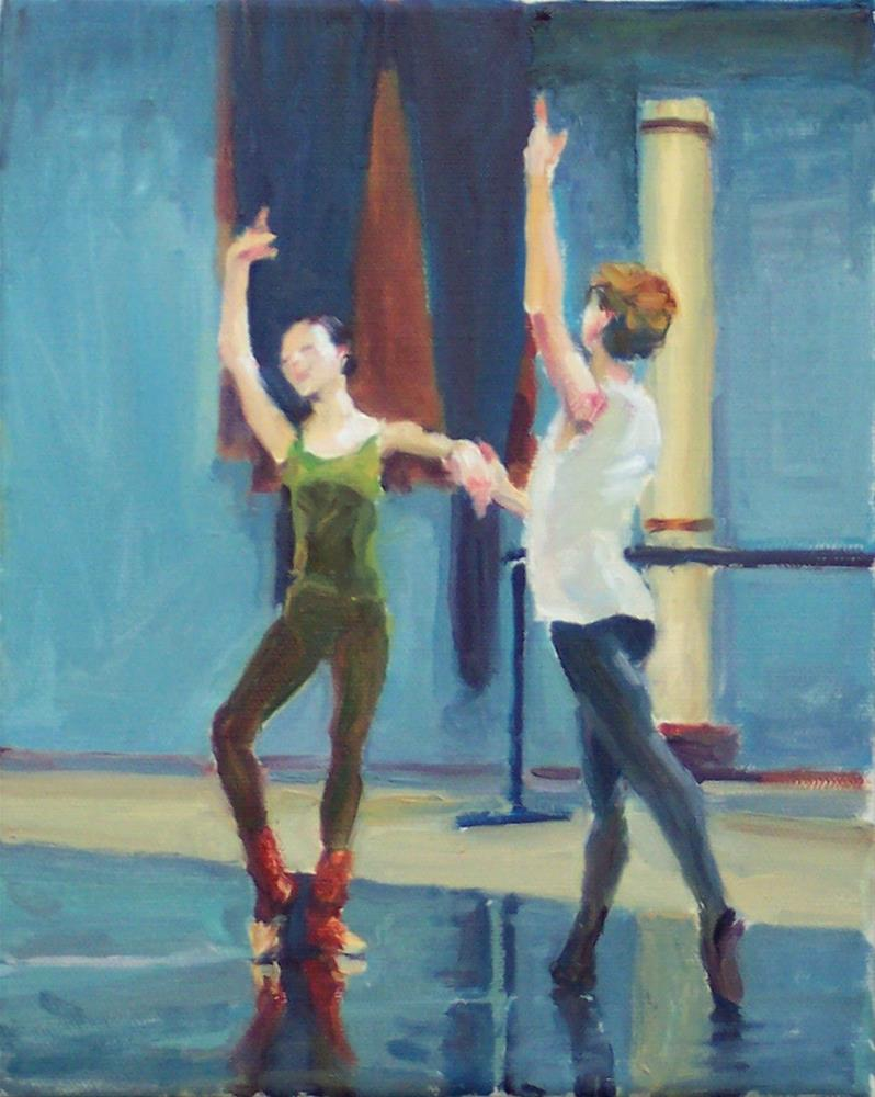 """Another Practise,figures,oil on canvas,10x8,price$795"" original fine art by Joy Olney"
