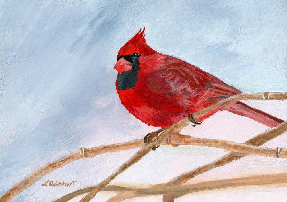 """A Touch of Red"" original fine art by Lynne Reichhart"