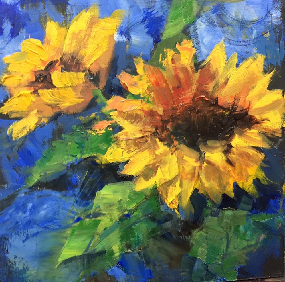 """""""Workshop Review"""" original fine art by Julie Ford Oliver"""