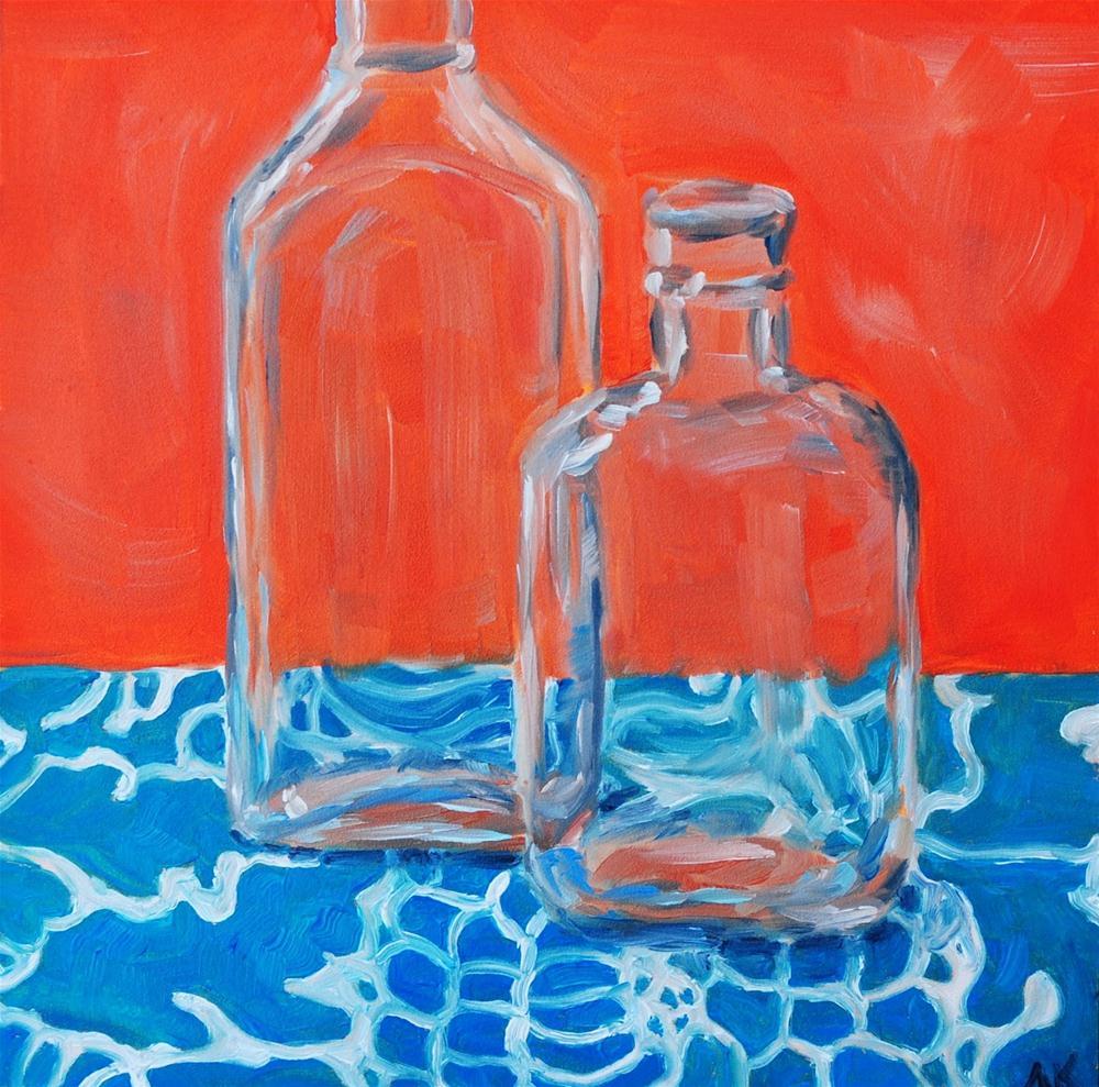 """""""Vintage Bottles 1"""" original fine art by Alison Kolkebeck"""