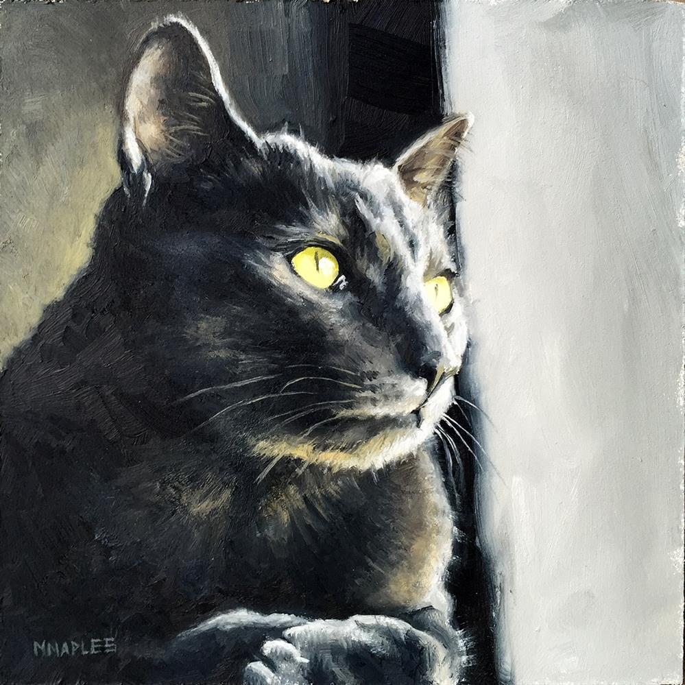 """Cat Commission No.2"" original fine art by Michael Naples"