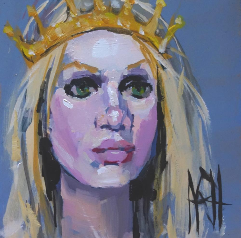 """Blonde Queen"" original fine art by Nancy  Rhodes Harper"