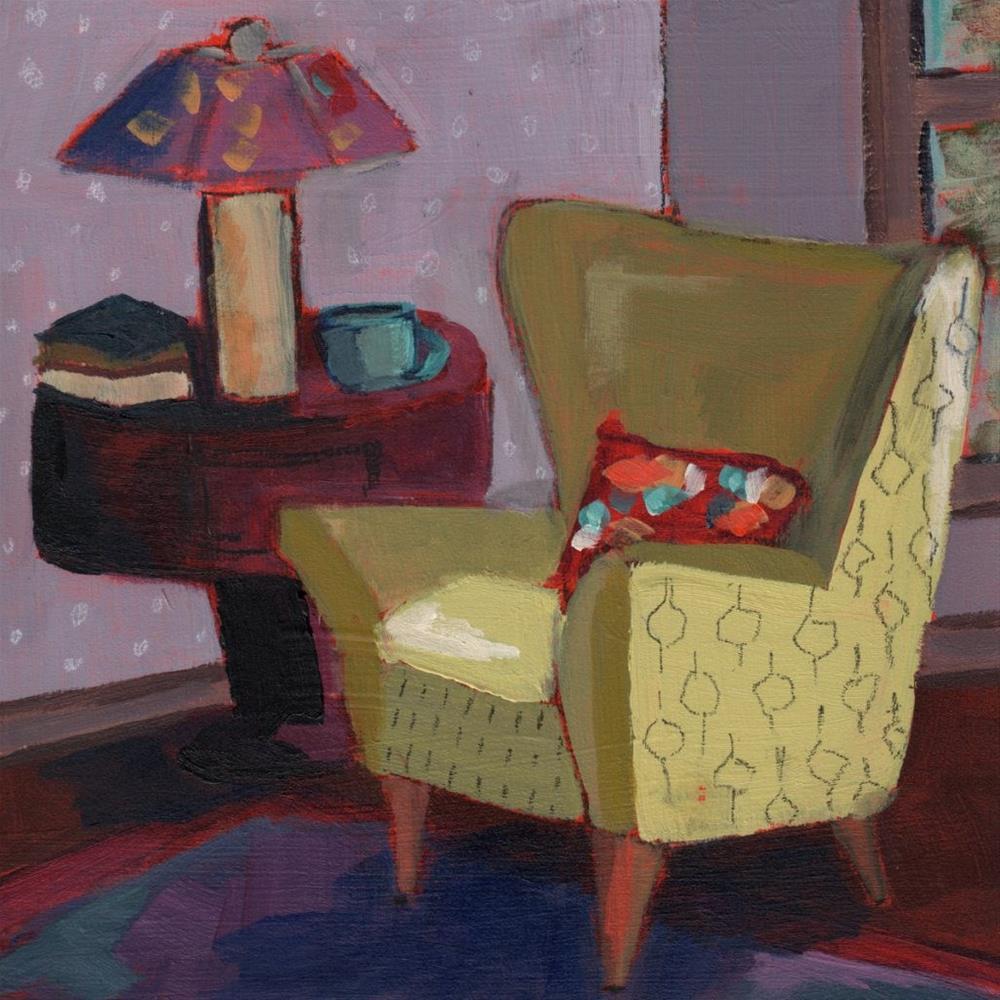 """Sitting Pretty (#372)"" original fine art by Debbie Miller"