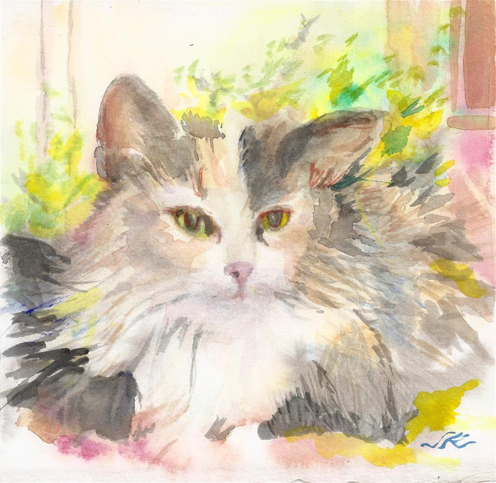 """Fancy Cat"" original fine art by jean krueger"