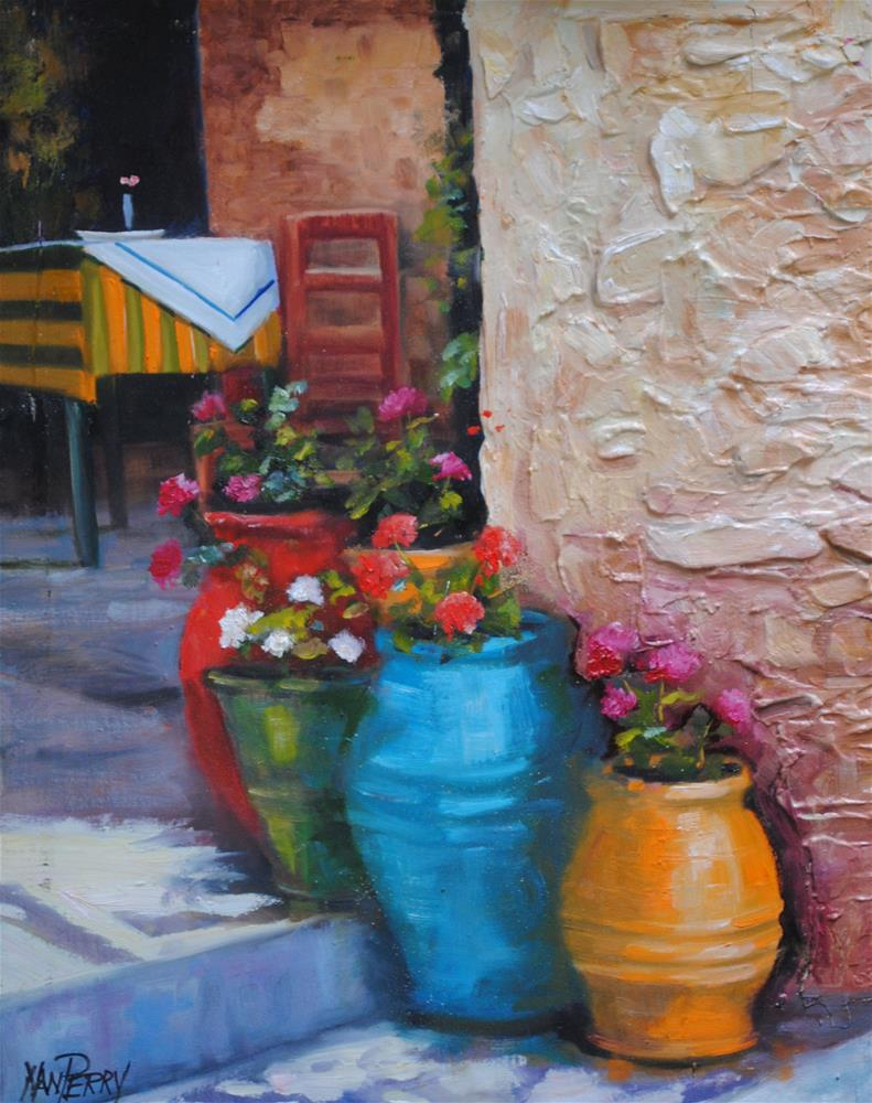 """Restaurant Entrance"" original fine art by Nan Perry"