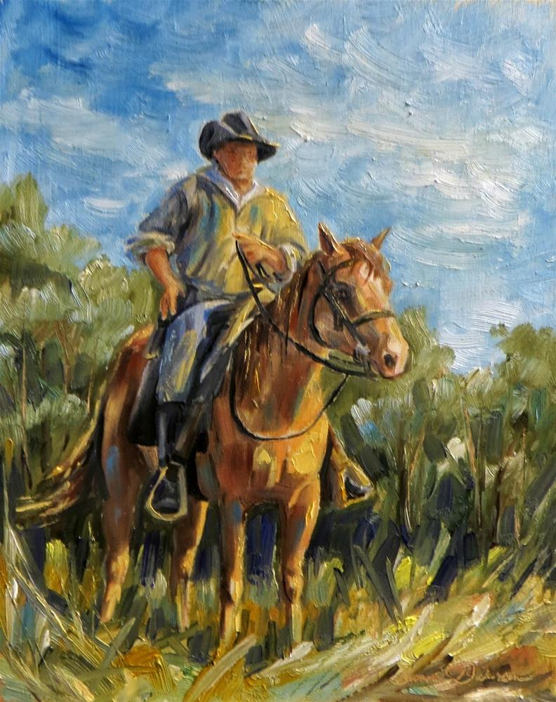 """Back in the Saddle"" original fine art by Tammie Dickerson"