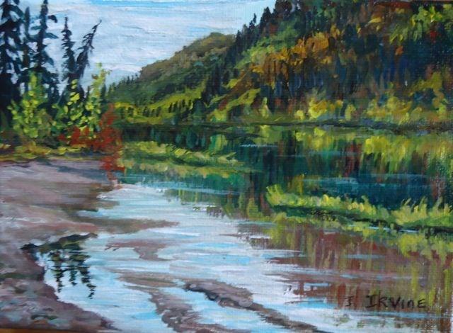 """Fisheye Lake Study"" original fine art by Jackie Irvine"