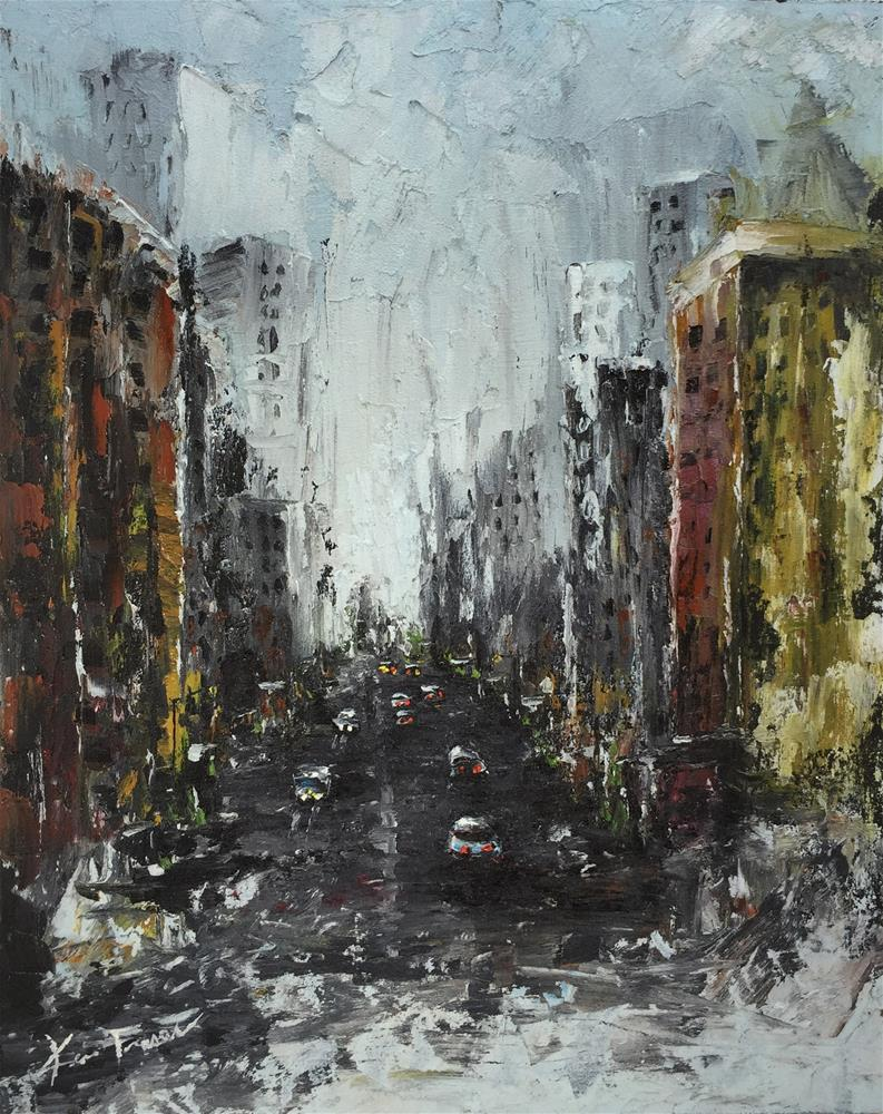 """City of Streets"" original fine art by Ken Fraser"