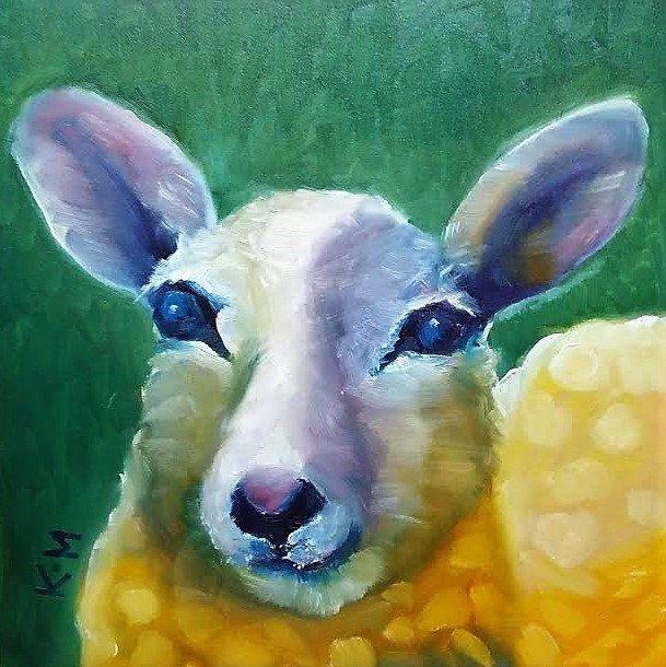 """Sheep"" original fine art by Kulli Maslova"