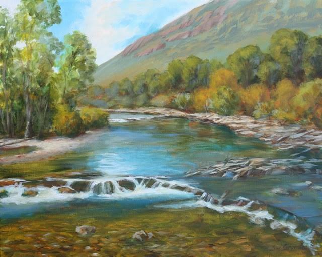 """Wood River Memories"" original fine art by Sue Cervenka"
