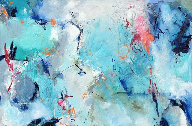 """""""Contemporary Abstract Expressionist Painting GOOD VIBRATIONS by Abstract Artist Pamela Fowler Lord"""" original fine art by pamela fowler lordi"""