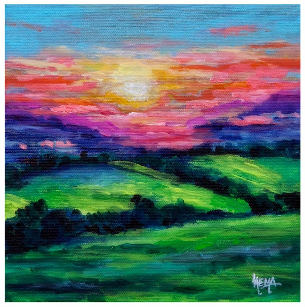"""Sierra Road Sunset"" original fine art by Hema Sukumar"