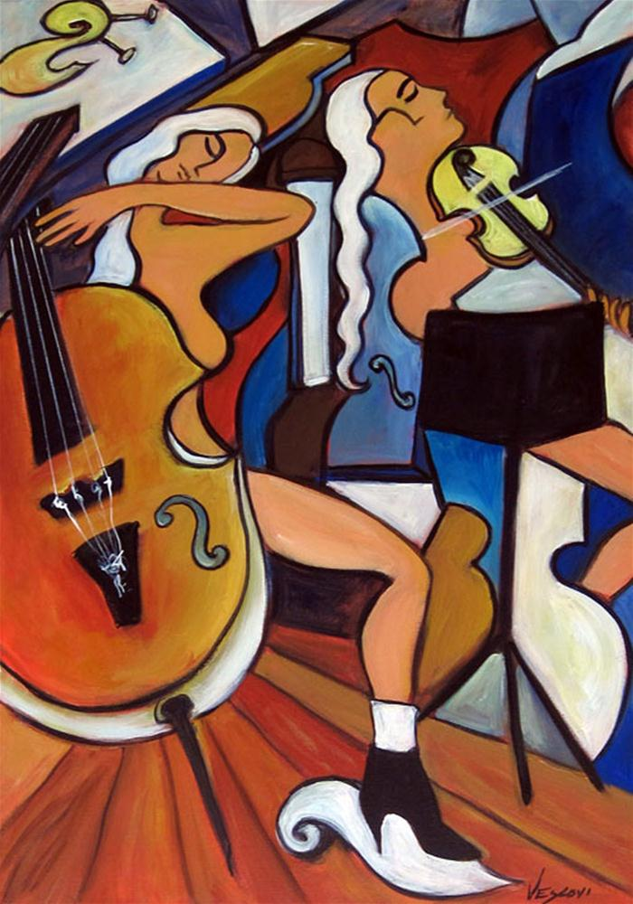 """The Voluptuous Cello"" original fine art by Valerie Vescovi"