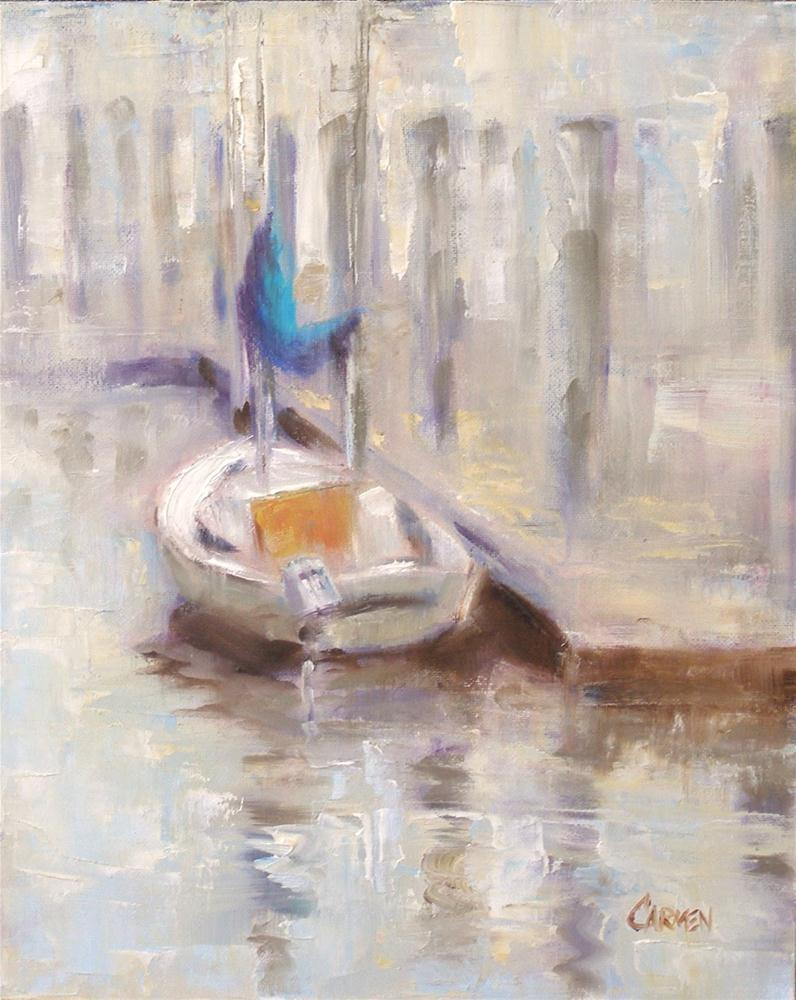 """Dream Boat, 8x10 Oil on Canvas Board"" original fine art by Carmen Beecher"