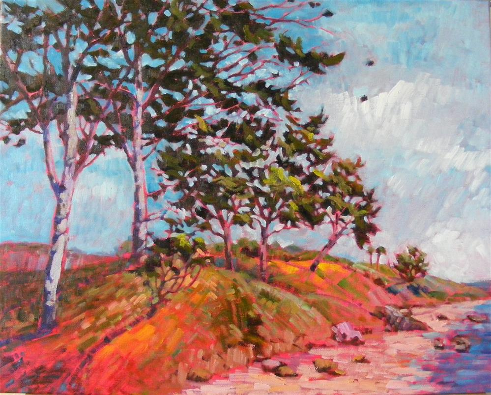 """""""Ocean breeze"""" original fine art by Celine K.  Yong"""