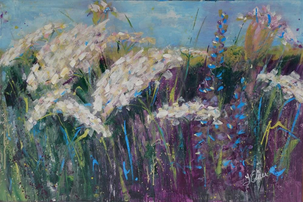 """Queen Anne's Lace Field"" original fine art by Terri Einer"