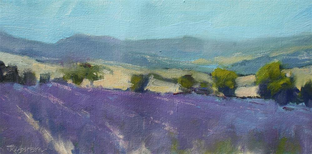 """Lavender Trail II"" original fine art by Jane Robertson"