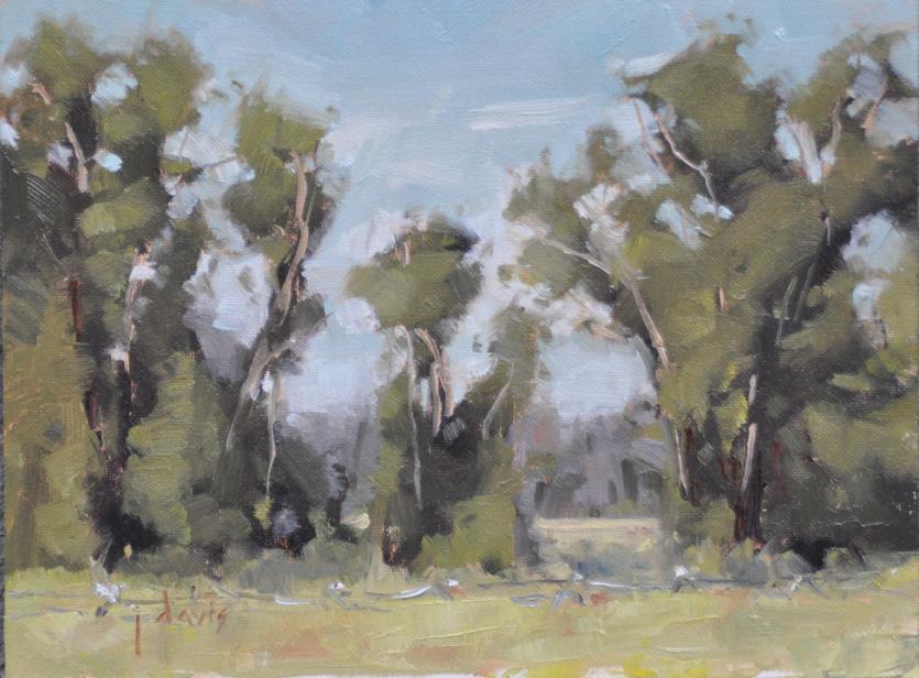"""""""Trees, Number 16"""" original fine art by Julie Davis"""
