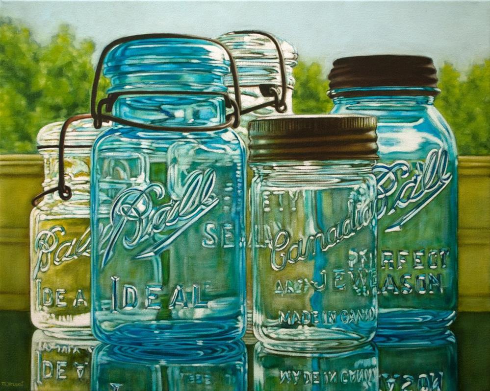 """""""Mason Jar Gathering"""" original fine art by Margaret Horvat"""