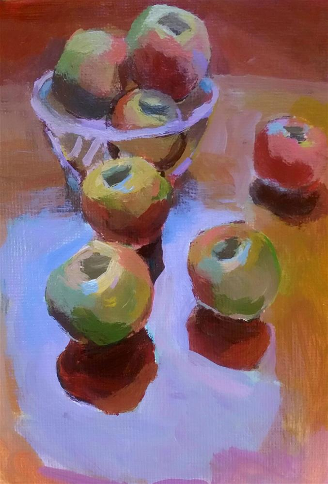 """Apples and Window Reflections "" original fine art by Liz Maynes"