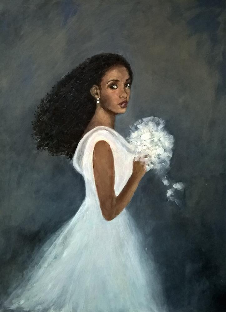 """""""Bride"""" original fine art by Joan Matero"""