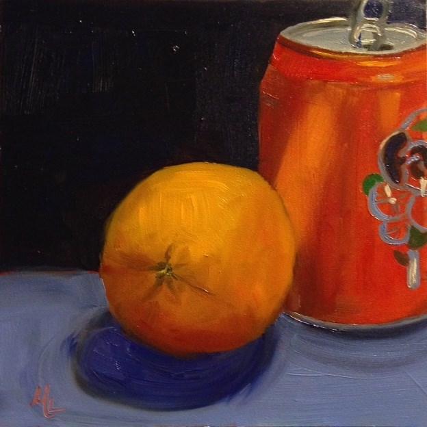 """""""Orange and Orange"""" original fine art by Marjie Laizure"""