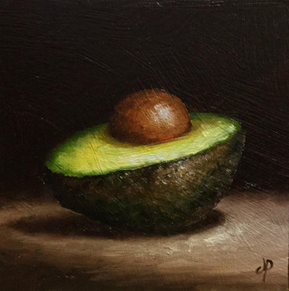 """Avocado half"" original fine art by Jane Palmer"