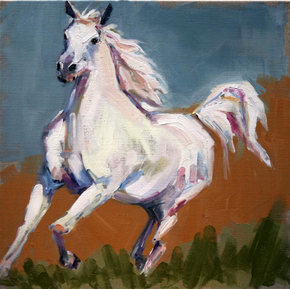 """horse power"" original fine art by Carol Carmichael"