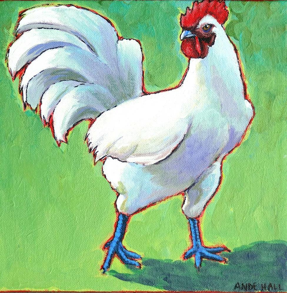 """Les Bresses: Le Coq"" original fine art by Ande Hall"