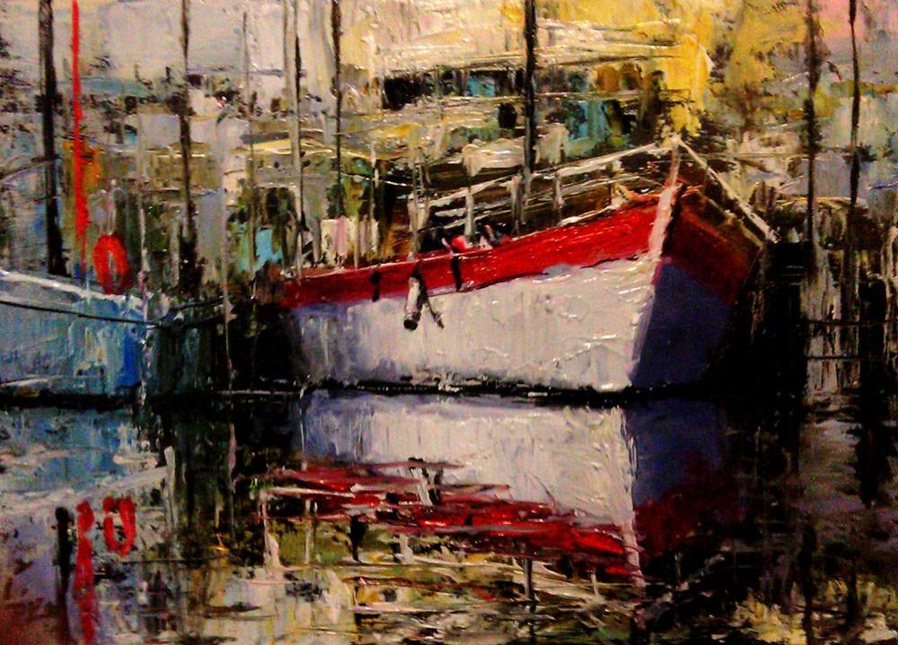 """Old Fishing Port"" original fine art by Bob Kimball"