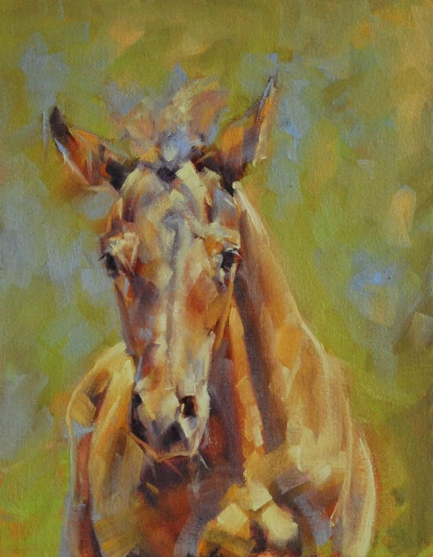 """Charge!"" original fine art by Jennifer Pratt"