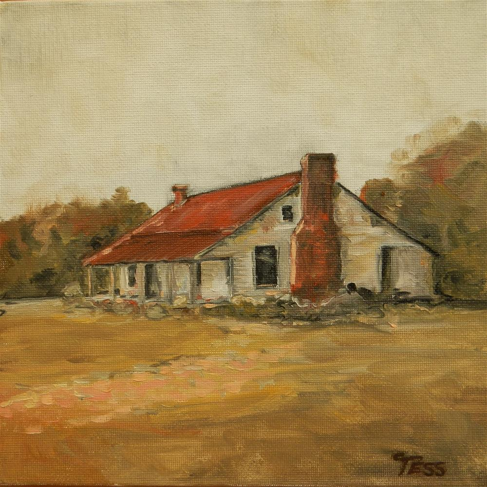 """The Zorn Challenge. Farmhouse"" original fine art by Tess Lehman"