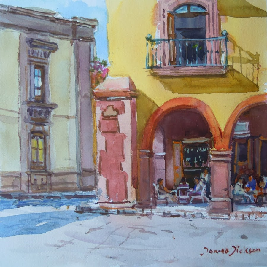"""Corner of the Jardin San Miguel de Allende"" original fine art by Donna Dickson"