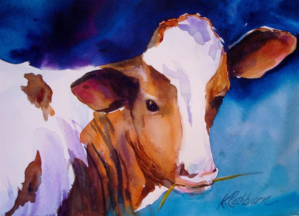"""Moo-ve Over"" original fine art by Kathy Los-Rathburn"