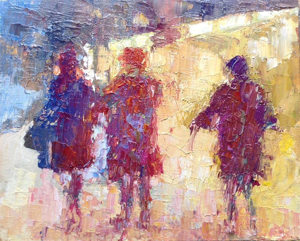 """A night out"" original fine art by Joseph Mahon"